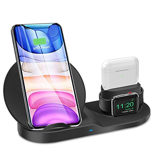 3 in 1 Wireless Charger Station for iPhone 12/11 Series/Xs/XS...