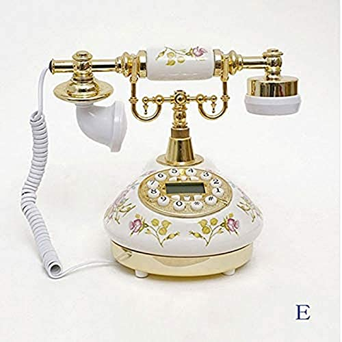 JDJFDKSFH Teléfono Antiguo, Teléfono Digital Fijo Teléfono Vintage Clásico Retro Retro Teléfono de Teléfono de Teléfono Ajustable Ajustable con Pantalla de Llamadas entrantes White