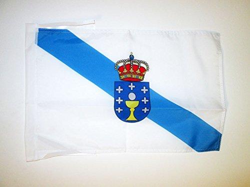 AZ FLAG Bandera de Galicia 45x30cm - BANDERINA GALLEGA 30 x