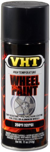 VHT SP183 Satin Black Wheel Paint Can - 11 oz.