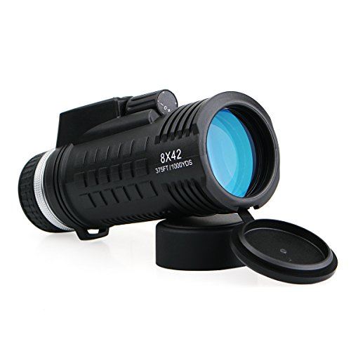 Svbony SV42 Monocular 8x42 Brújula Telémetro BAK4 PrismaFMC Óptica Impermeable Monoculares de Largo Alcance para Observar Las Aves o Vida Silvestre Caza
