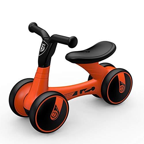 GYF Regalo de cumpleaños 4 Colores 41X55X29CM de Auto Equilibrio niño Que resbala bebés de 1-4 años de Edad, los niños y niñas Juguetes bebé Giro de Diapositivas (Color : Orange)