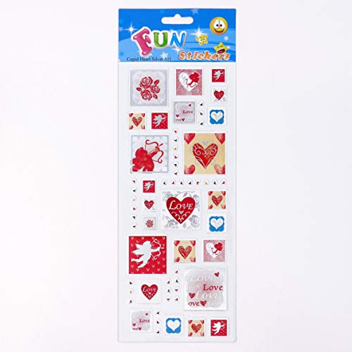 Fun Stickers Cupid Heart Silver 511