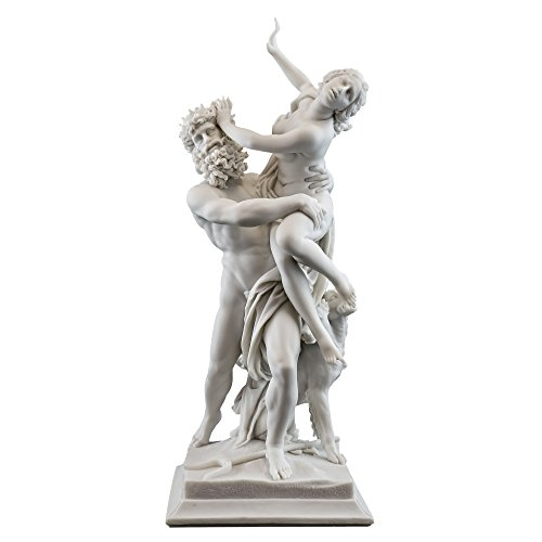 Top Collection 14-Inch Greek God Pluto and Proserpina Statue by Gian Lorenzo Bernini (1598-1680). Premium Cold Cast Marble. Museum-Grade Masterpiece Replica.