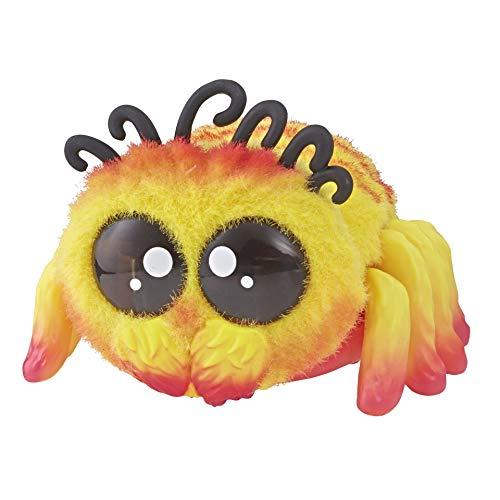 Yellies Peeks, niedliche interaktive Plüsch-Spinne - reagiert auf Geräusche und Stimme, E5381ES20, mehrfarbig