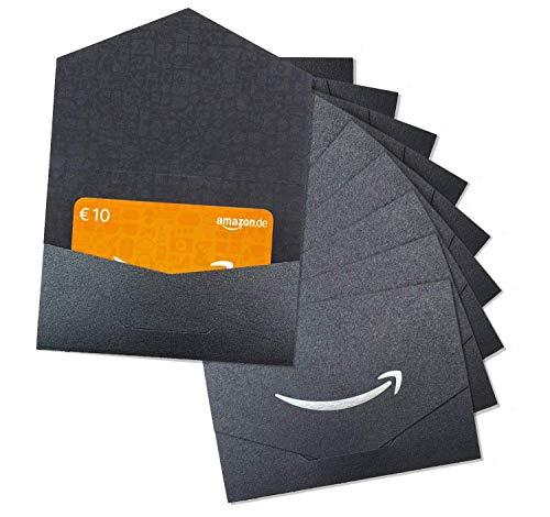 Amazon.de 10€ Geschenkgutschein im 10er Multi-Pack (Geschenkkuvert Schwarz und Silber)