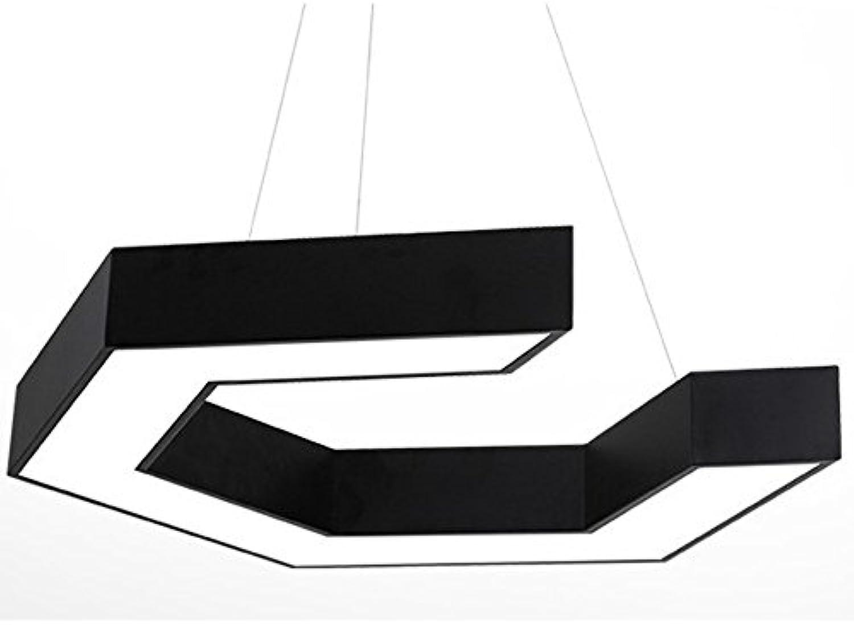 Moderne Minimalistische LED-Kronleuchter Kreativ Geformten Kronleuchter Büro Bekleidung Geschft Internet Café Industrial Wind Geometrie Kronleuchter Gre 45  10  8 cm Schwarz 36W