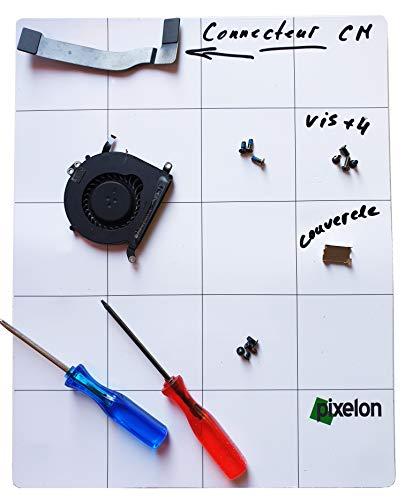 Alfombra magnética para tornillos, herramienta reparación, smartphone, reloj, gafas, drones, almacenamiento mate de memoria, alfombra de proyecto, ideal para trabajos minúsculos.