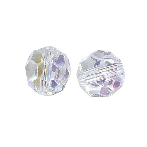 RAYHER 14194801 Ronde glazen kralen, 10 mm diameter, doos 5 stuks, bergkristal