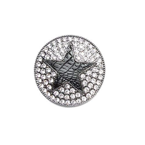 Brosche Magnetbrosche Stern Strass Leder Schal Clip Bekleidung Poncho Taschen Stiefel Textilschmuck