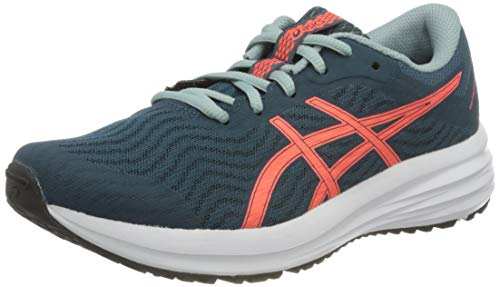ASICS Patriot 12 Running Shoe, Magnetic Blue/Sunrise Red, 33 EU