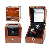 Oksmsa Lujo Madera Cajas Giratorias for Relojes Automático Mecánico Caja de Bobinado C.A. Adaptador Motor Criba Vibradora Poseedor Almacenamiento Cajas (Color : B)