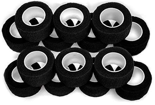 Fingerverband, Fingerpflaster, Selbsthaftende Fingerbandagen, Pflaster 2,5 cm breit, schwarz - 14 Stück