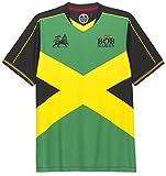 Photo de Amplified Clothing Bob Marley 'Iron Lion' (Green & Black) Football Shirt (Small) par