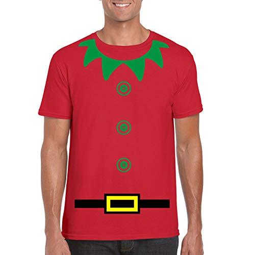 Diseño con texto en inglés para hombre diseño de elfo navideño T-camiseta de manga corta disfraz infantil de, 8...