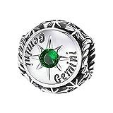 Watopi - Pulsera de 12 constelaciones con colgante de plata de ley con cuentas para pulseras de estilo retro, accesorios de moda, cadena de regalo de San Valentín