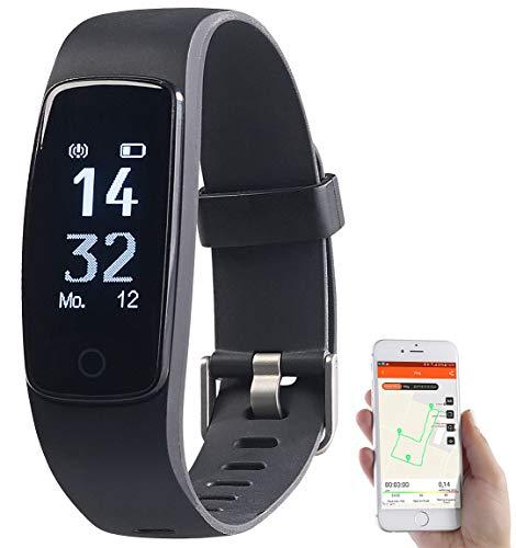 Newgen Medicals Fitnessarmband: GPS-Fitness-Armband mit XL-Touch-Display, 14 Sportarten, IP68 (Smartwatch GPS)