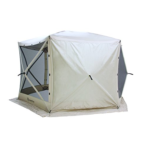 Gazelle Tents 21500 G6 Pop-Up Portable 6-Sided Hub Gazebo/Screen Tent, Easy Instant Set Up in 60 Seconds