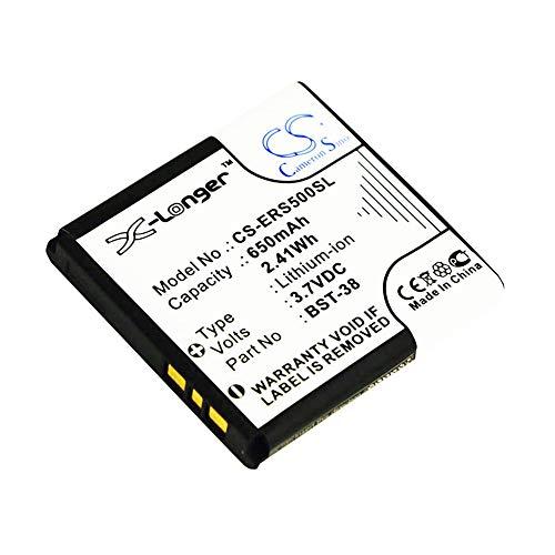 cellePhone Akku Li-Ion kompatibel mit Sony-Ericsson C510 K770i K850i S500 T650 W150 W995 Z770 Z780i (Ersatz für BST-38)