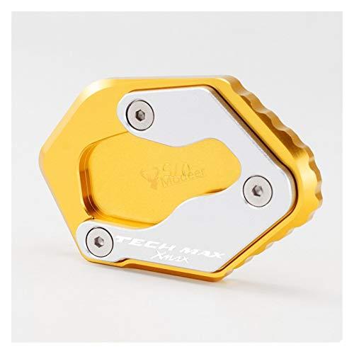 Basamento Lato Moto Kickstand Sidestand Stand Enlarger per Ya-MA-HA Xmax 125/300/400 Techmax 2020 Tech Max Laterale Estensione (Colore : Gold)