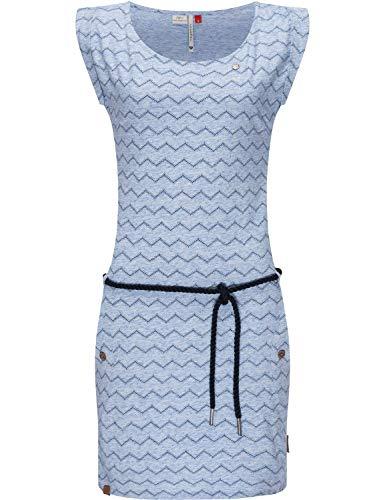 Ragwear Damen Kleid Jerseykleid Sommerkleid Tag Chevron Intl. Blue Gr. L