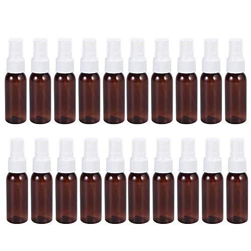 Leere Sprühflasche, 30 ml, Braun, nachfüllbar, Weiß, 20 Stück