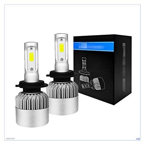 Summer solstice PCS 6500K H7 LED Faro del coche H4 Bulb H1 H1 H3 H8 H9 9005 HB3 9006 HB4 H27 9007 36W 8000LM Turbo Lámparas Auto Lámparas Niebla ( Emitting Color : 6500K , Lumens : 8000LM 2 Pcs )