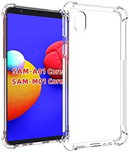 Shining Zon Silicon Flexible Shockproof Corner Back Case Cover For Samsung Galaxy M01 Core Back Cover Transparent