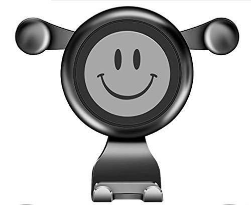 ZYTC Gravity Car Air Vent Mount Universeel Voertuig Een smiley face bracket voertuig outlet navigatie rek Stand voor Mobiele Mobiele Telefoon GPS Grijs