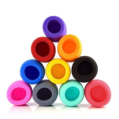 Cubierta de Micrófono, 10 Piezas Esponjas Microfonos, Cubierta de Micrófono Colorida, Cubiertas de Espuma de Microfono, para KTV, Entrevistas de Noticias, Actuación en El Escenario (10 Colores)