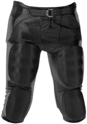 Youth Dazzle Football Pants w/ Pads Black/XSM