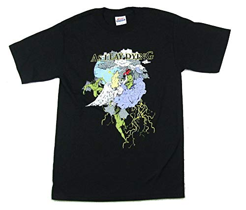 YINJING As I Lay Dying Battle Angels And Demons T Shirt Black S