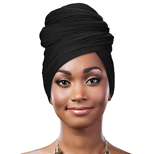 Geyoga Frauen Strecken Kopfwickel Afrikanisch Turban Lang Haar Schal Haarband Kopftuch