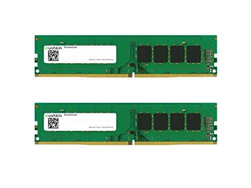 Mushkin Essentials - DDR4 Desktop DRAM - 64 GB (2x32 GB) UDIMM -minnesett - 3200MHz (PC4-25600) CL -22 - 288 -pinners 1.2 V PC RAM - To -kanaler - Lavspenning - (MES4U320NF32GX2)