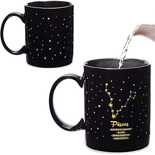 Color Changing Mug, Pisces Zodiac Astrology Sign Cup (11 oz)