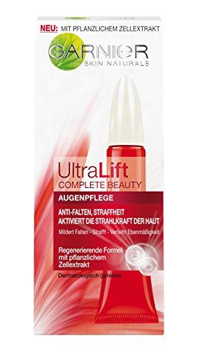GARNIER Ultra Lift Complete Beauty Anti Falten Augenpflege/Antifaltencreme für die Augen (Anti-Aging Creme mit pflanzlichen Zellextrakten und natürlichem Pro-Retinol) 3 x...