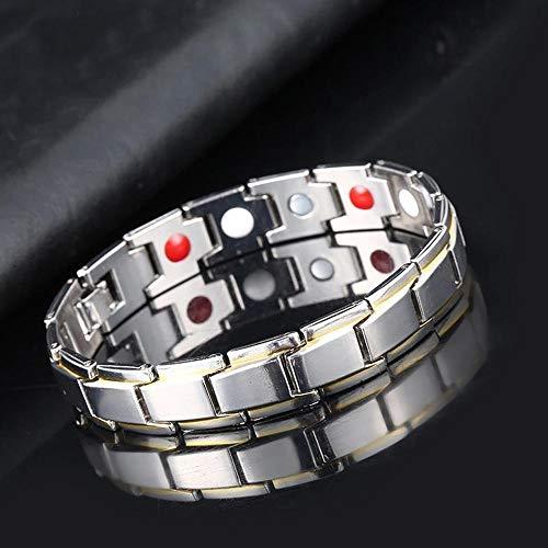 Hämatit Perle Elastisches Armband Magnetfeldtherapie Perle Ultra Thin-Typ7 Silber Gold