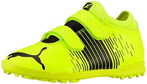 Puma Future Z 4.1 TT V JR, Zapatillas de fútbol Unisex niños, Yellow Alert Black White, 29/30 EU