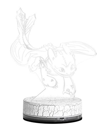 Unbekannt Drachenzähmen Dragons LED Licht mit Ohnezahn Schablone mit USB Kabel aufladbar, dunkelblau