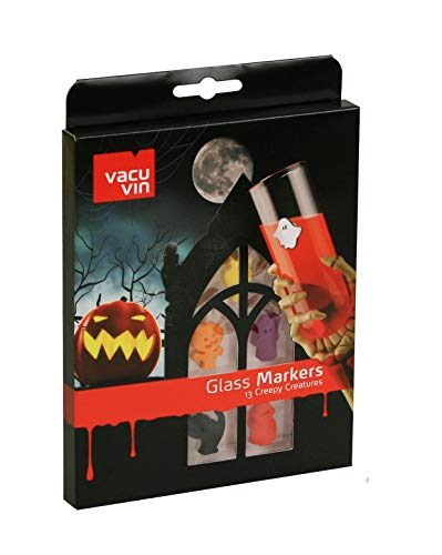 Vacu vin 1886260 Glassmarker Creepy Creatures 13-er Set