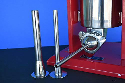 THE BEST 3-sizes Stainless Steel Sausage stuffer filler funnel tubes, Compatible with VIVO