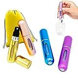 Atomizzatore Profumo, 4 Pezzi Atomizzatore Profumo Ricaricabile, High-end Portatile Bottiglia di Profumo, Con Borsa di Immagazzinaggio, porta profumo da viaggio.