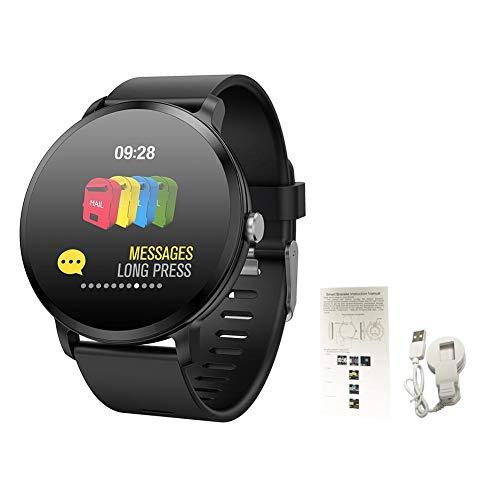 Alian V11 Smartwatch con Luce di Respirazione, Braccialetto attività Sportiva Monitoraggio della Frequenza Cardiaca e Pressione Sanguigna, Previsioni Meteo Smartband per Android iOS
