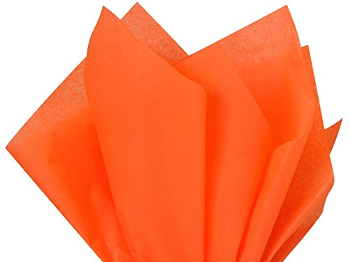Orange Tissue Paper 20 Inch x 30Inch - 48Sheets Premium Quality Tissue Paper by A1 bakery supplies