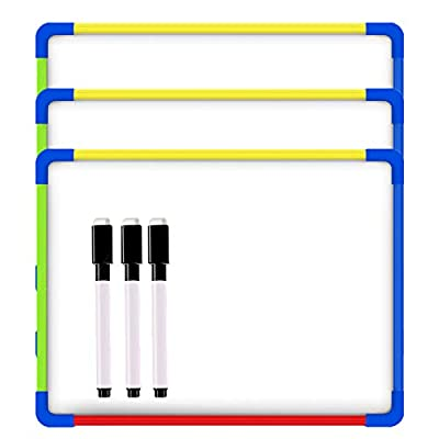 3 Pack Small Magnetic Double-Sided Whiteboards ...