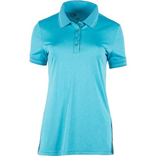 RENNER XXL Mingana Damen Funktions-Polo-Shirt Große Größen, Aqua, 46