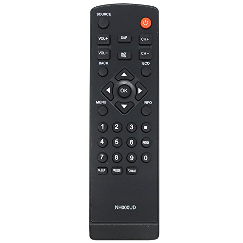 2 Replacement HDTV Remote Controls for LC320EM2, LC320EM1F, LC320EM2F, LC320SL1, LC320SLX, LC320EMX, LC320EMXF, LC195EMX, LC320EM1, LC195SLX- Compatible with NH000UD Emerson/Sylvania TV Remote Control