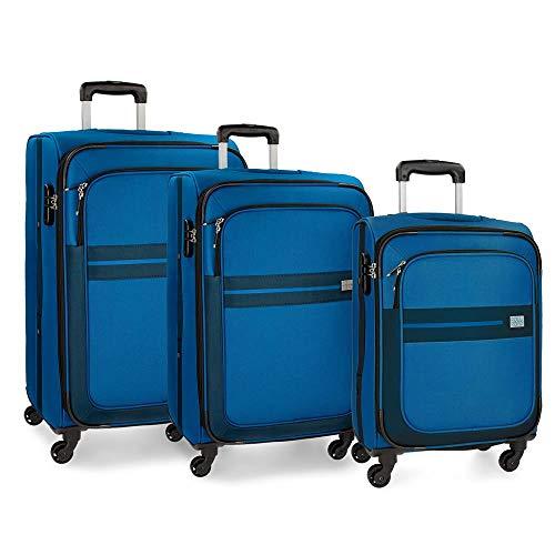 Roll Road Sicilia Luggage Set 76 Centimeters 195 Black (Negro)