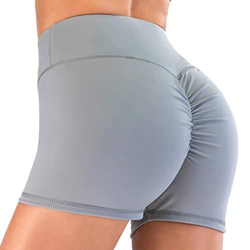 STARBILD Shorts Pantalones Deportes Cortos de Fitness Mallas para Mujer Elástico de Alta Cintura para Correr Gimnasio Gym