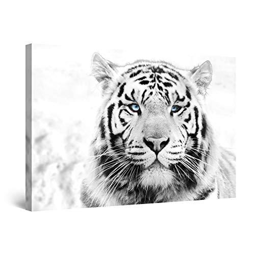Startonight Cuadro Moderno en Lienzo Tigre del Ensueño, Pintura Animales Blanco y Negro para Salon Decoración Grande 80 x 120 cm
